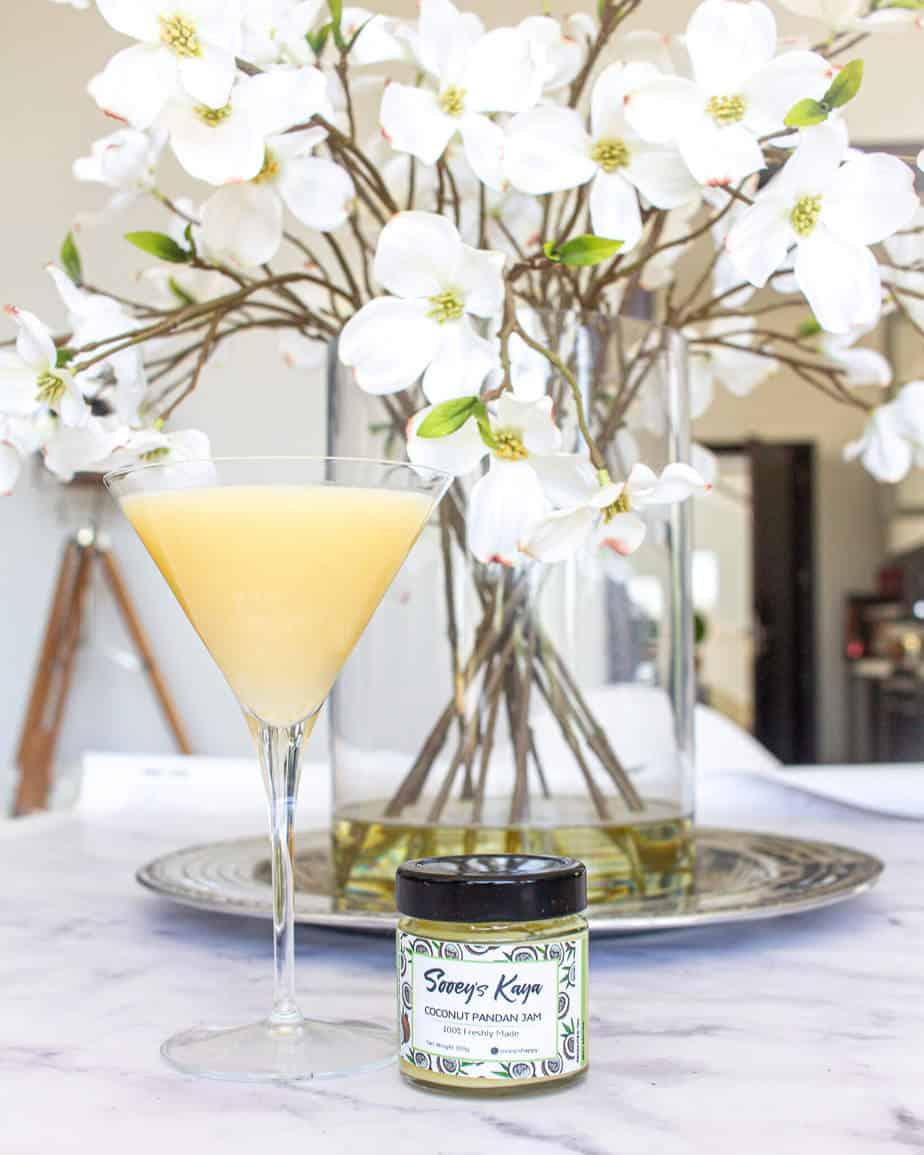 kaya jam lychee martini