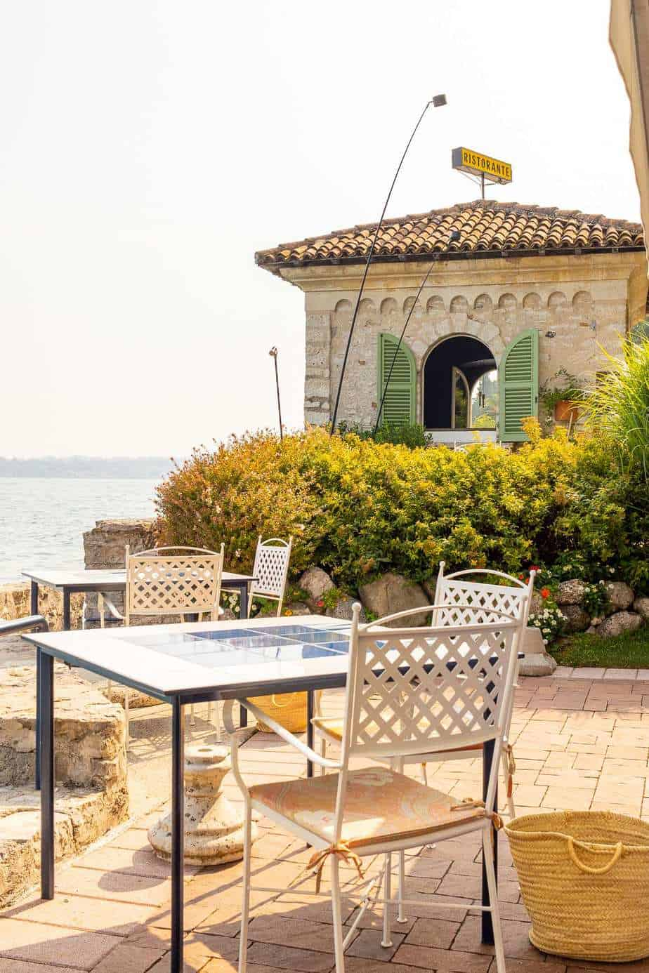 Ristorante Lido 84 Tower Private Dining and Outside Alfresco Dining Area
