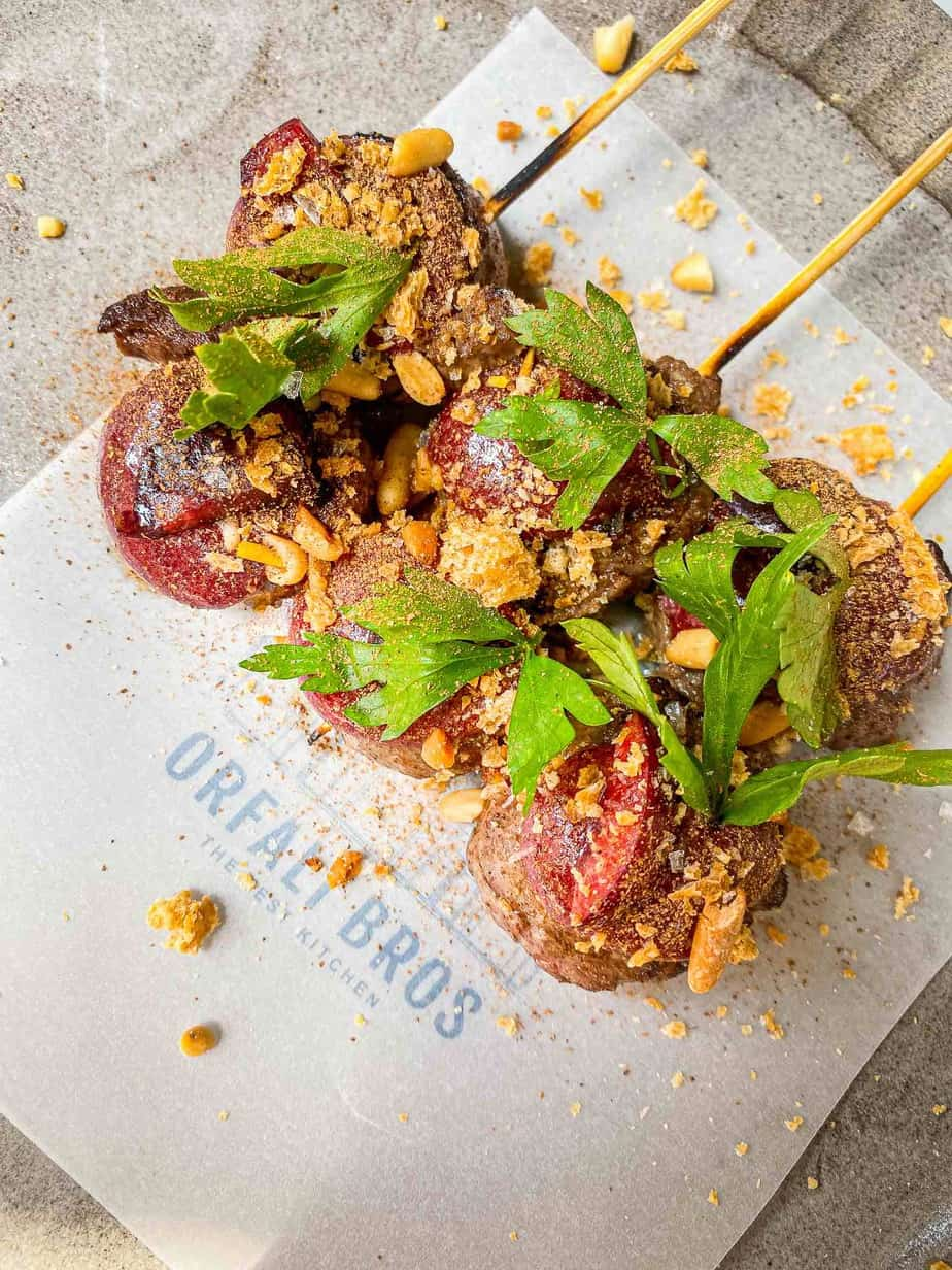 Orfali Bros Beef Tenderloin with Sour Cherry